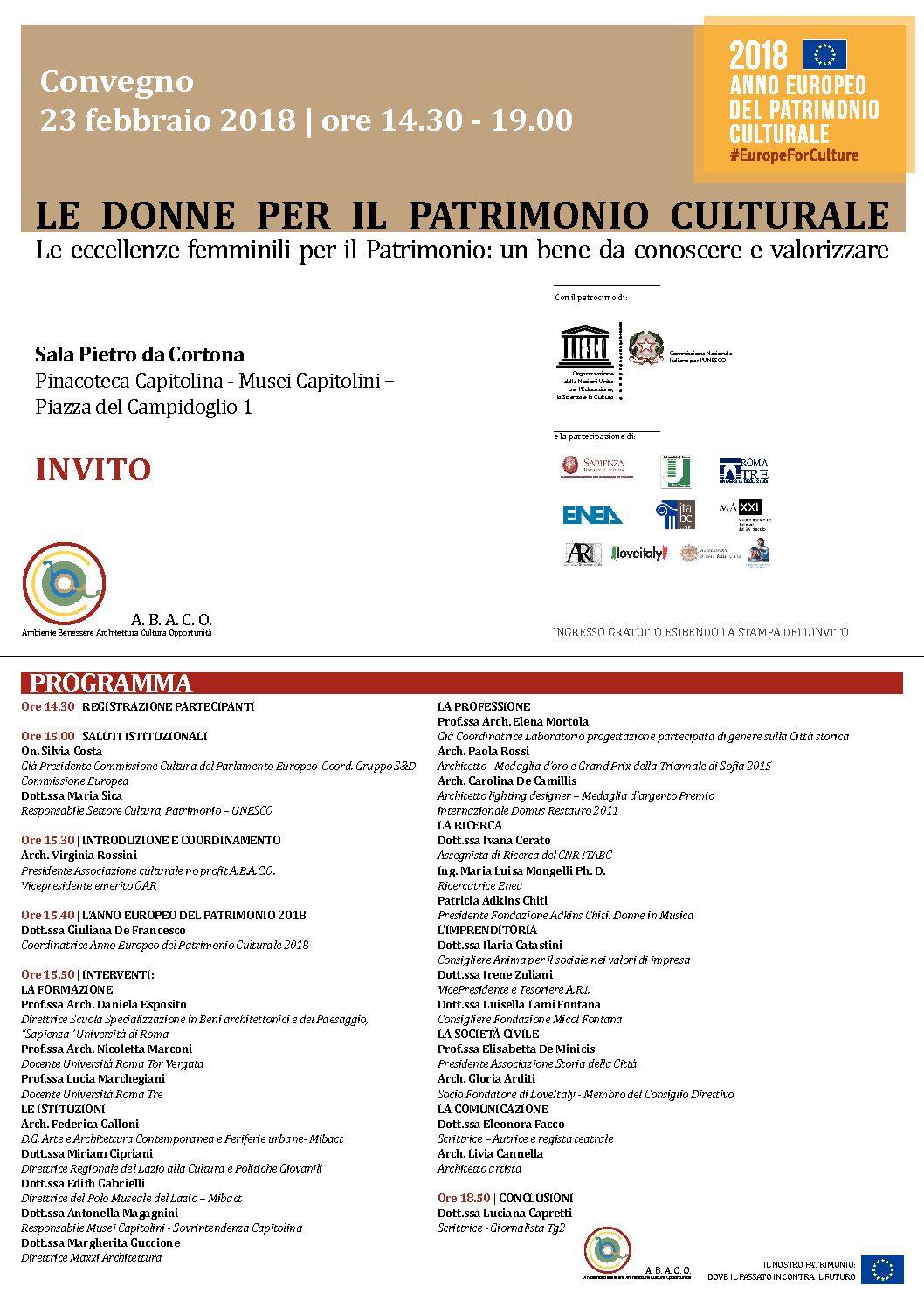 Convegno - Le donne per il Patrimonio Culturale