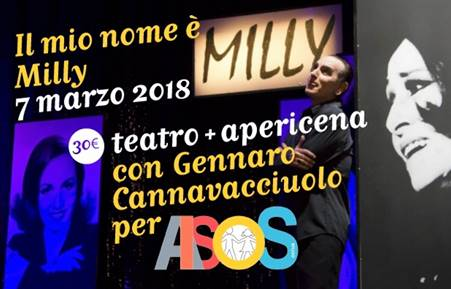 "spettacolo ""Il mio nome è Milly: una diva tra guerre, prìncipi, pop e variété"
